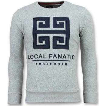 Textiel Heren Sweaters / Sweatshirts Local Fanatic Greek Border - Leuke Sweater - 6350G - Grijs