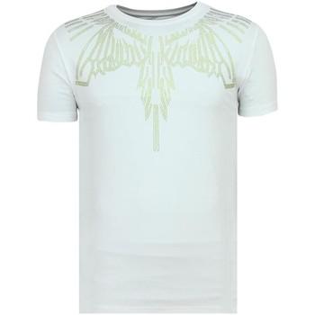 Textiel Heren T-shirts korte mouwen Local Fanatic Eagle Glitter - Strakke T-Shirt - 6359W - Wit