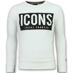 Textiel Heren Sweaters / Sweatshirts Local Fanatic ICONS Block W Wit