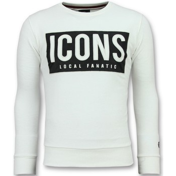 Textiel Heren Sweaters / Sweatshirts Local Fanatic ICONS Block - Coole Sweater - 6355W - Wit