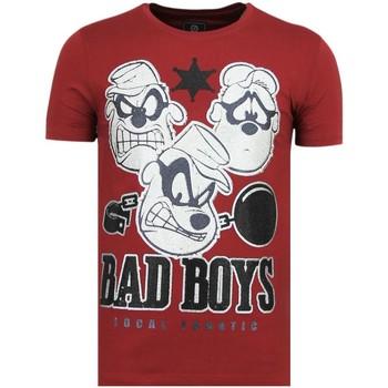 Textiel Heren T-shirts korte mouwen Local Fanatic Beagle Boys - Funny T-Shirt - 6319B - Bordeaux