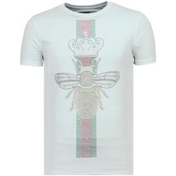 Textiel Heren T-shirts korte mouwen Local Fanatic King Fly Glitter - Vette T shirt Heren - 6360W 1