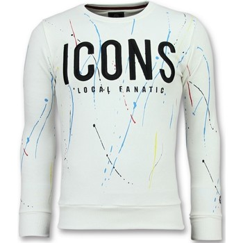 Textiel Heren Sweaters / Sweatshirts Local Fanatic ICONS Painted - Funny Sweater Heren - 6341W 1