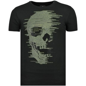Textiel Heren T-shirts korte mouwen Local Fanatic Skull Glitter - Carnaval T shirt Heren - 6338Z 38