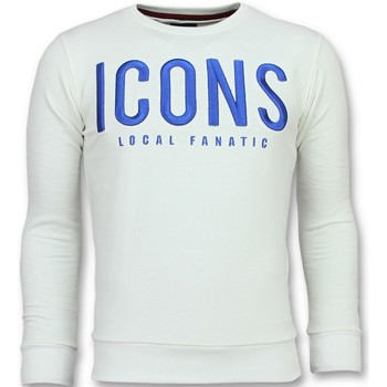Textiel Heren Sweaters / Sweatshirts Local Fanatic ICONS - Leuke Sweater - 6349W - Wit