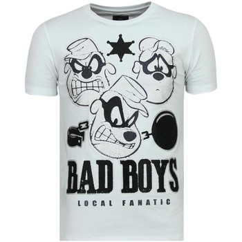 Textiel Heren T-shirts korte mouwen Local Fanatic Beagle Boys - Coole T-Shirt - 6319W - Wit