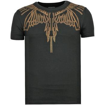 Textiel Heren T-shirts korte mouwen Local Fanatic Eagle Glitter Z Zwart