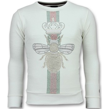 Textiel Heren Sweaters / Sweatshirts Local Fanatic King Fly Glitter W Wit