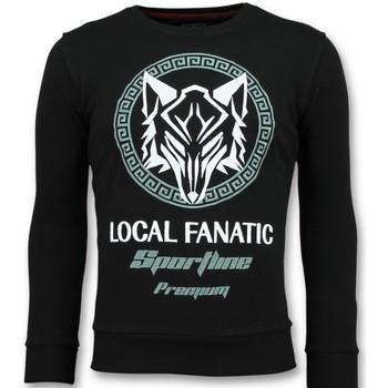 Textiel Heren Sweaters / Sweatshirts Local Fanatic Sportline Wolf - Stoere Sweater - 6357Z - Zwart