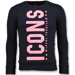 Textiel Heren Sweaters / Sweatshirts Local Fanatic ICONS Vertical - Coole Sweater - 6353N - Blauw