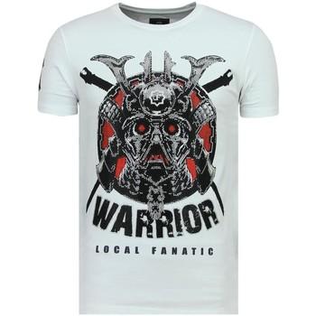 Textiel Heren T-shirts korte mouwen Local Fanatic Savage Samurai - Stoere T-Shirt - 6327W - Wit
