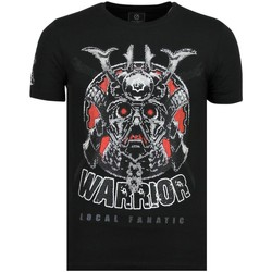 Textiel Heren T-shirts korte mouwen Local Fanatic Savage Samurai Merk Z Zwart
