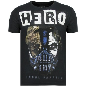 Textiel Heren T-shirts korte mouwen Local Fanatic Hero Mask - Carnaval T shirt Heren - 6323N