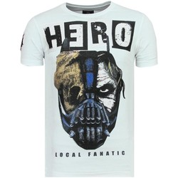 Textiel Heren T-shirts korte mouwen Local Fanatic Hero Mask Luxe W Wit