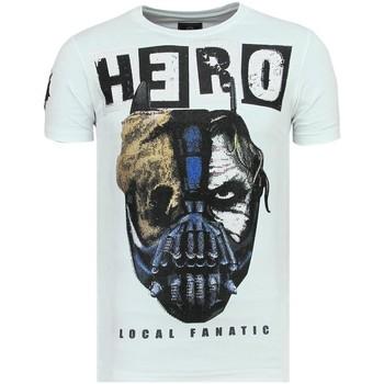 Textiel Heren T-shirts korte mouwen Local Fanatic Hero Mask - Luxe T-Shirt - 6323W - Wit