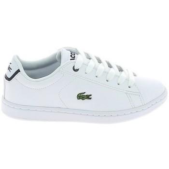 Schoenen Lage sneakers Lacoste Carnaby Evo BL C Blanc Marine Wit