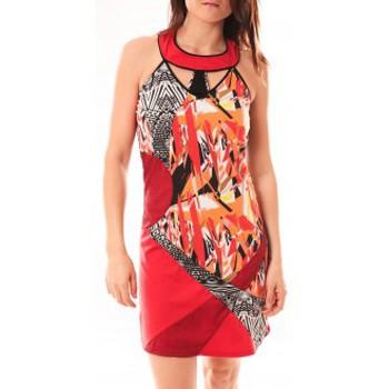 Textiel Dames Korte jurken Bamboo's Fashion Robe BA1501 Rouge Rood