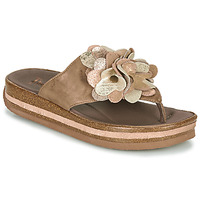 Schoenen Dames Teenslippers Think ZEGA Beige
