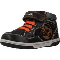 Schoenen Jongens Hoge sneakers Geox MEAF B FLICK BOY Zwart