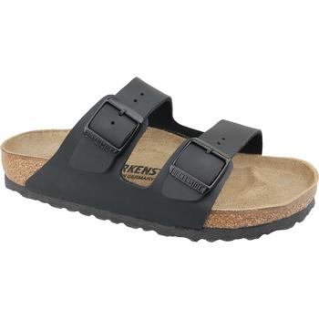 Schoenen Dames Leren slippers Birkenstock Arizona BF Noir