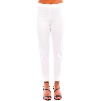 Textiel Dames Chino's Caractere P140 A 100 Wit