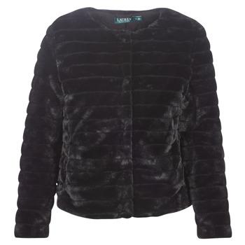 Textiel Dames Mantel jassen Lauren Ralph Lauren FAUX CHUBBY Zwart