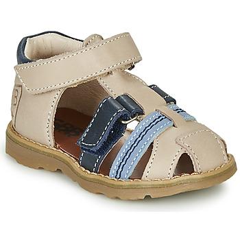 Schoenen Jongens Sandalen / Open schoenen GBB DIMMI Beige / Blauw
