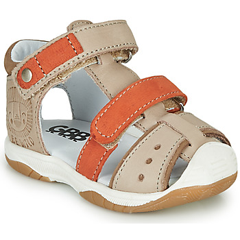 Schoenen Jongens Sandalen / Open schoenen GBB EUZAK Beige / Oranje