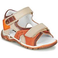 Schoenen Jongens Sandalen / Open schoenen GBB EROPE Beige / Oranje