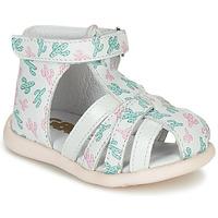 Schoenen Meisjes Sandalen / Open schoenen GBB AGRIPINE Wit / Groen / Roze