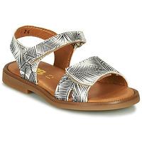 Schoenen Meisjes Sandalen / Open schoenen GBB CAVOLA Wit / Zwart