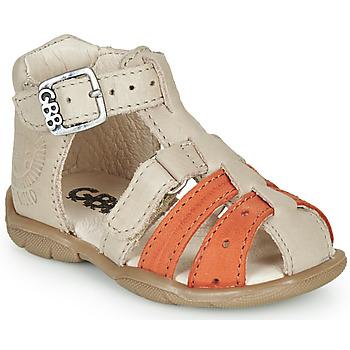 Schoenen Jongens Sandalen / Open schoenen GBB BORETTI Beige / Oranje