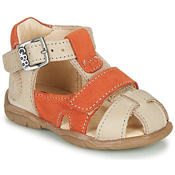 Schoenen Jongens Sandalen / Open schoenen GBB SEROLO Beige / Oranje
