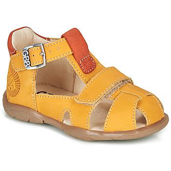 Schoenen Jongens Sandalen / Open schoenen GBB SEROLO Geel / Oranje
