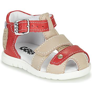 Schoenen Jongens Sandalen / Open schoenen GBB BASILA Rood / Beige