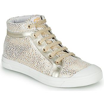 Schoenen Meisjes Hoge sneakers GBB NAVETTE Goud