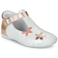 Schoenen Meisjes Ballerina's GBB ANAXI Wit / Roze / Goud