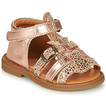 Schoenen Meisjes Sandalen / Open schoenen GBB CARETTE Roze / Goud