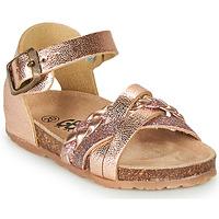 Schoenen Meisjes Sandalen / Open schoenen GBB ALECTA Roze / Goud