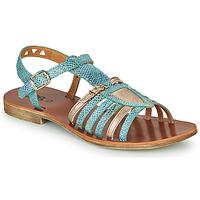 Schoenen Meisjes Sandalen / Open schoenen GBB FANNI Blauw / Goud