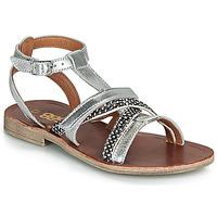 Schoenen Meisjes Sandalen / Open schoenen GBB JULIA Zilver