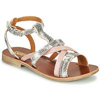 Schoenen Meisjes Sandalen / Open schoenen GBB JULIA Wit / Roze