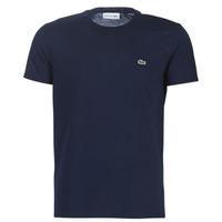 Textiel Heren T-shirts korte mouwen Lacoste TH6709 Marine