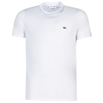 Textiel Heren T-shirts korte mouwen Lacoste TH6709 Wit