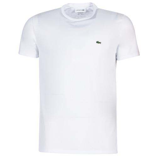 Textiel Heren T-shirts korte mouwen Lacoste TH6709 Wit