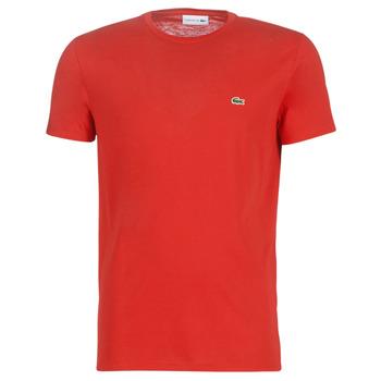 Textiel Heren T-shirts korte mouwen Lacoste TH6709 Rood
