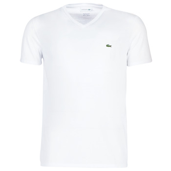 Textiel Heren T-shirts korte mouwen Lacoste TH6710 Wit