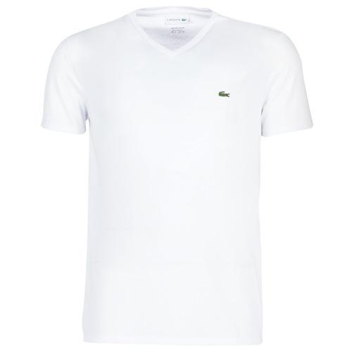 Textiel Heren T-shirts korte mouwen Lacoste TH6710 Wit