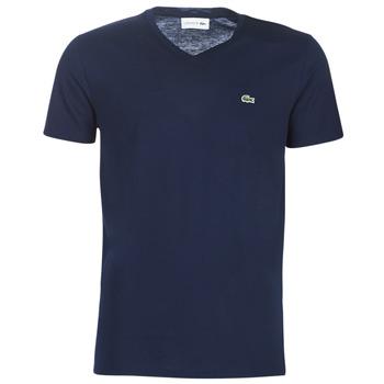 Textiel Heren T-shirts korte mouwen Lacoste TH6710 Marine