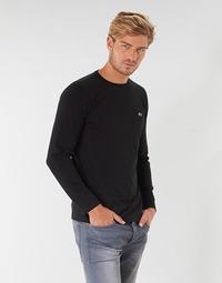 Textiel Heren T-shirts met lange mouwen Lacoste TH6712 Zwart